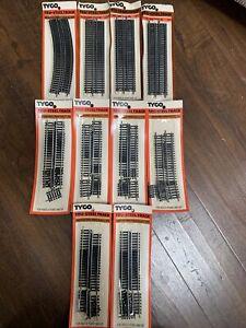 10 Packs #470, #417 & #418 Tyco HO Scale Tru-Steel Track NIP