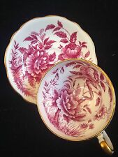 Gorgeous Foley Peony Corsette Tea Cup And Saucer
