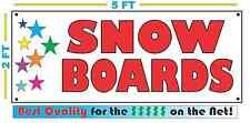 SNOW BOARDS w Multi Colored Stars Banner Sign NEW 2X5