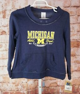 NWT Michigan Wolverines U of M Sweatshirt Girls Kids Sz 10/12 Large