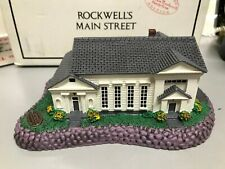 Nib 1992 Norman Rockwell's Town Hall Home Town Collection Rhodes Studios 05544