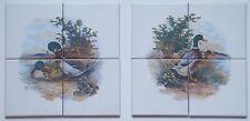 10x10 Fliesen Setpreis mit Enten Erpel Geflügel von Bauernhof als Küchenfliesen