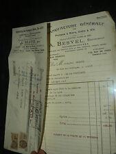 Facture Pompe à Bière Vin BESVEL ROMAINVILLE 1927 Publicité brochure old paper