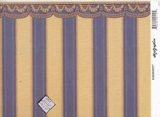 "Tara w/ Border  211D2  minigraphics dollhouse wallpaper 1pc 1/12 scale 11""x17"""