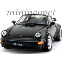 WELLY 24023 PORSCHE 964 TURBO 1/24 - 1/27 DIECAST CAR MODEL BLACK