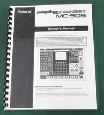 Roland MC-909 Instruction Manual: Comb Bound with Protective Covers!