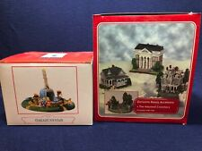 Lot of 2 Boxes 3 Buildings +Cemetery Liberty Falls Collection Villages Halloween