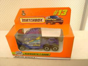 1998 MATCHBOX SUPERFAST #13 BLUE KENWORTH T-2000 TRUCK NEW IN BOX