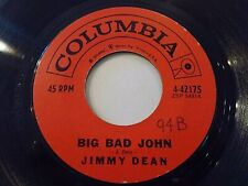 Jimmy Dean Big Bad John / I Won't Go With Huntin' With You Jake 45 Vinyl Record
