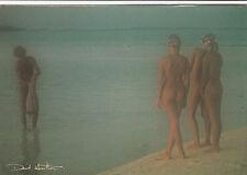 Ak David Hamilton Akt Blonde Frau femme bath nu nude nudo butt Po Nudist Mann