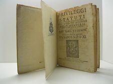 Privilegi e statuti della venerabile archiconfraternita Innocenzo XI