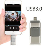 USB 3.0 32G 64G 128GB USB Flash Memory Drive Thumb U Disk for iPhone Android iOS