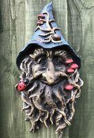 Wizard Face Plaque Greenman Garden Decor Wicca Pagan Magic New & Boxed 31cm