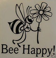 FUNNY BEE HAPPY!Bumper Sticker/Decal /vehicles/Pets/Bee Keeping/Apiarist