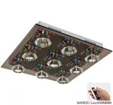 Deckenleuchte Deckenlampe WOFI Glas Rauchglas Kristall LED Halogen Fernbedienung