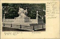 DÜSSELDORF ~1900 alte Postkarte Partie am Kriegerdenkmal Krieger Denkmal alte AK