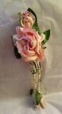 "PATIENCE BREWSTER Valentine's KRINKLES PINK ROSE FAIRY ORNAMENT 12"" FIGURE D 56"