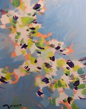 JOSE TRUJILLO - CONTEMPORARY ABSTRACT OIL PAINTING IMPRESSIONIST FLORAL FLOWERS