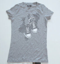 Neu All Star Converse Damen T-Shirt TShirt Shirt Chucks grau Gr.S 18 #234