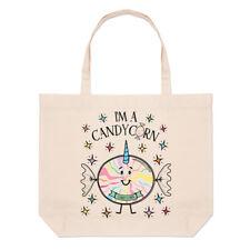 I'm A Candycorn Large Beach Tote Bag - Funny Candy Unicorn Magical Joke Shoulder