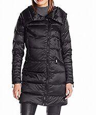 BCBGMAXAZRIA Womens Jacket Black Size Medium M Puffer Down Full-Zip $118 698