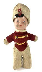 "Vintage Soldier / Drummer Boy Band Leader Doll 16"" Stuffed Cloth Composite Head"