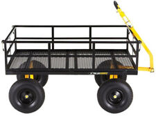 Gorilla Carts Yard Cart 1,400 lb. Heavy Duty Steel Removable Sides 15 in. Tires