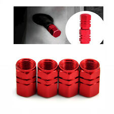 4Pcs   Aluminum Tire Wheel Stem Valve Caps Tyre Cover Car Truck Bike Red Hot