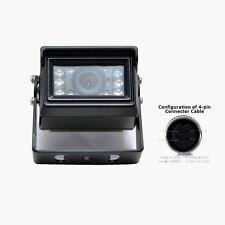 Car CCD Rearview Backup Camera 4 PIN IR 12V For BusTruck Caravan Motorhome