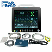 "Multi-parameter 12"" Vital Sign Patient Monitor ECG NIBP RESP TEMP SPO2 PR DHL"