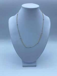 """22ct Yellow & White Gold Fancy Chain Necklace For Women - 17"""", 2mm, 4.7g"""
