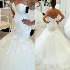 Hot New white / ivory mermaid wedding dress custom size 2-4-6-8-10-18-20-22 +