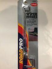 RoadPro Wiper Huggies 2-Pack Wind-Resistant Anti-Scratch NEW V-9009 Chrome