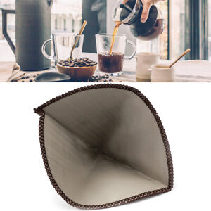 Reusable Pour Over Coffee Filter Stainless Steel Paperless Coffee Filter Cone
