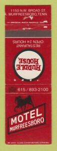 Matchbook Cover - Motel Murfreesboro TN