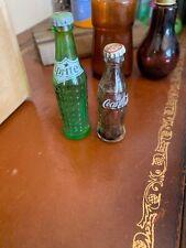 vintage mini coca cola And Sprite Bottles