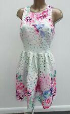 Lipsy VIP Blanco para Mujer de corte láser Crochet Floral Vestido De Graduación Ocasión corto 12