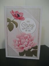 Hallmark The Story of Us Floral Card Keeper Safekeeping Treasure box - New!