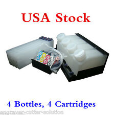 Continuous Bulk Ink System for Roland Mimaki Mutoh - 4 Bottles, 4 Cartridges