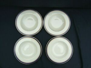 Set of 4  Lenox Jefferson Presidential Collection Rimmed Soup Bowls