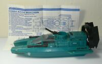 1984 GI Joe Cobra Water Moccasin Jet Speed Boat w/ Blueprints *Complete READ*