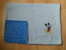 PERSONALISED MICKEY MOUSE BABY BLANKET PRAM CAR SEAT MOSES BASKET FLEECE