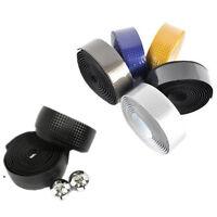 1 Pair Road Bike Cycling Bicycle Cork Carbon Handlebar Wrap Tape + 2 Bar Plugs
