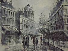 Peinture à l'Huile sur Toile Paysage Urbain Ancien Européen Paris Londres Blanc