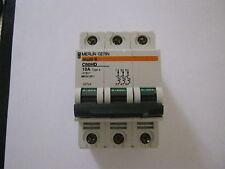 MERLIN GERIN MULTI 9 C60HD 10A TYPE 4 415V TRIPLE POLE CIRCUIT BREAKER.