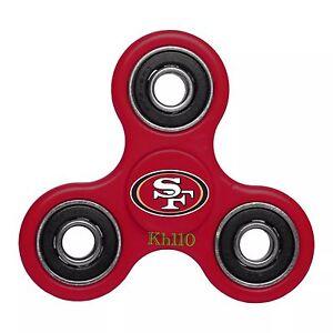 NFL San Francisco 49ers Three Way Fidget Hand Spinner- in Stock Fast Ship