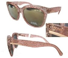 New GUESS GF0299 BROWN 74G Light Pink/ Mirror Womens Sunglasses + Case