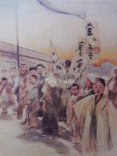 Giapponese Giappone battenti BANNER ORIGINALE 1901 colore stampa da MORTIMER menpes