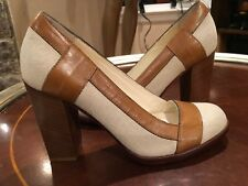 955d2252407f Cole Haan Heels Leather Canvas Size 6 RP  250