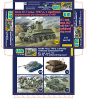 UniModels — BT-7 tank mod.1937 with the P-40 — Plastic model kit 1:72 Scale #238